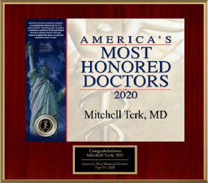 Dr. Mitchell Terk, M.D. - America's Most Honored Doctors 2020 - Top 10%