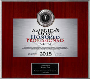 America's Most Honored Professionals 2018 - Top 1% - Dr. Mitchell Terk