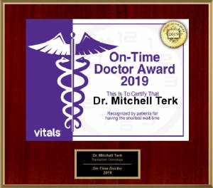 Mitchell Terk, MD: Awarded Vitals® On-Time Physician Award - 2019