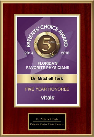 Patients' Choice 5 Year Honoree 2018 - Dr. Mitchell Terk