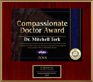 Awarded Vitals Patients Choice - Compassionate Doctor 2018 - Dr. Mitchell Terk