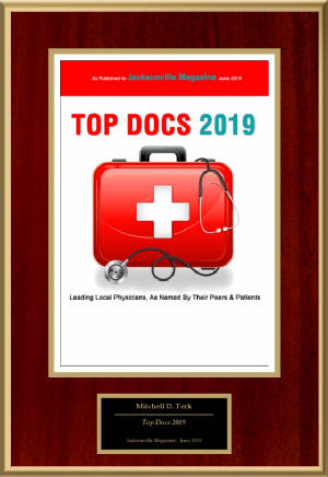 Mitchell Terk, MD: Awarded Top Docs Jacksonville Magazine